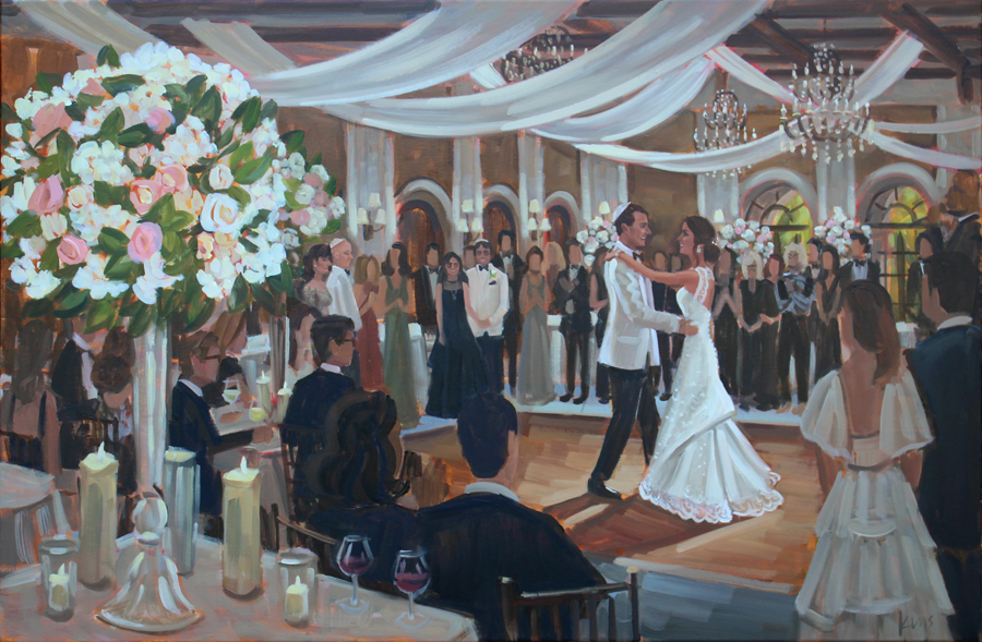 Live Wedding Painting | The Cloister, Sea Island, GA