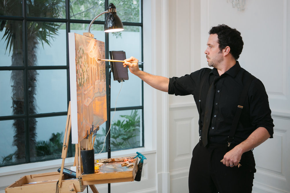 Live Wedding Painter, The Cloister, Sea Island, GA