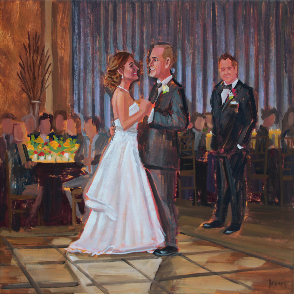 Wedding Painting | Father of the Bride Dance