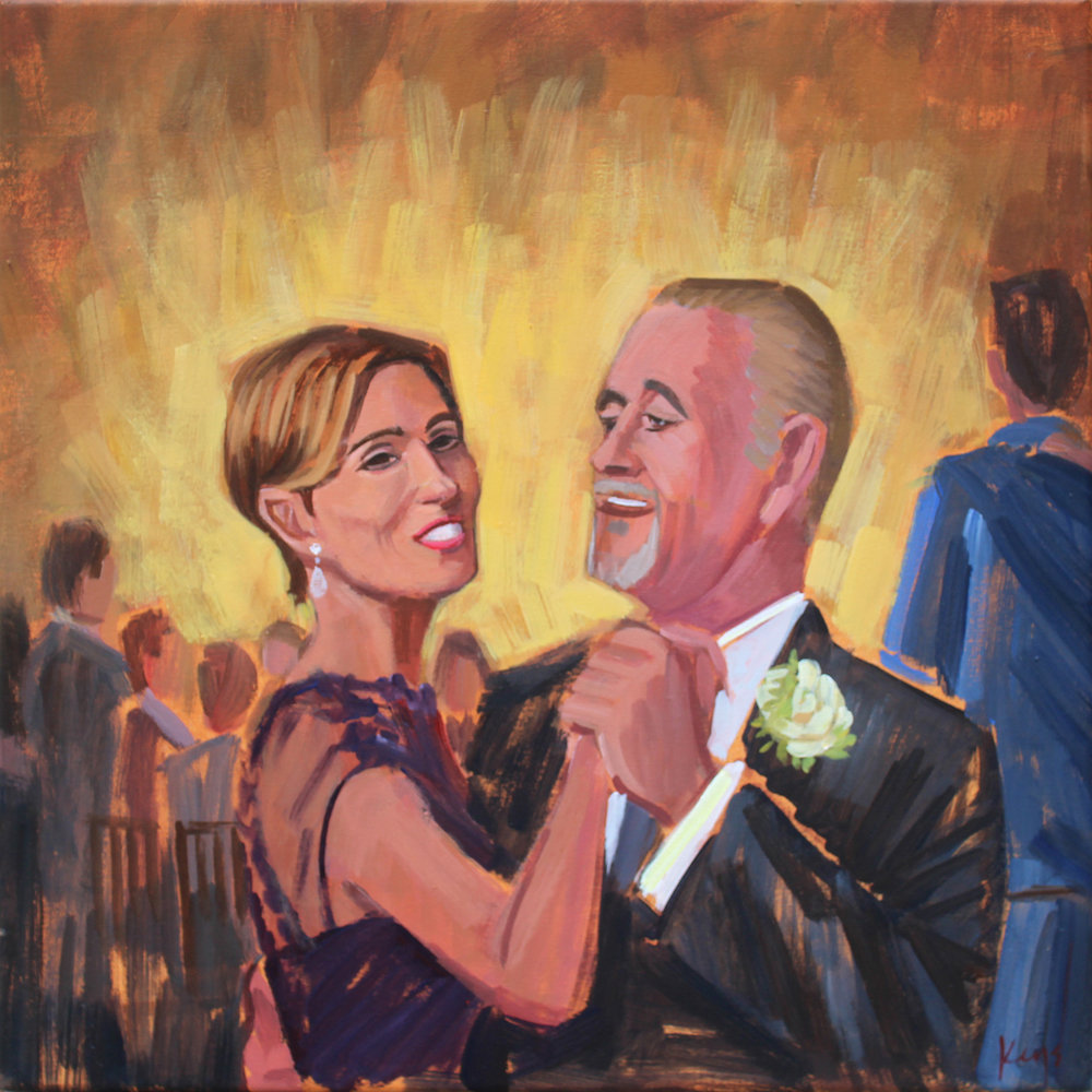 Wedding Painting | Father and Mother of the Bride
