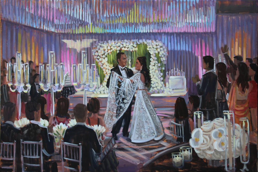 Live Wedding Painting at Landsdowne Resort, Leesburg, VA