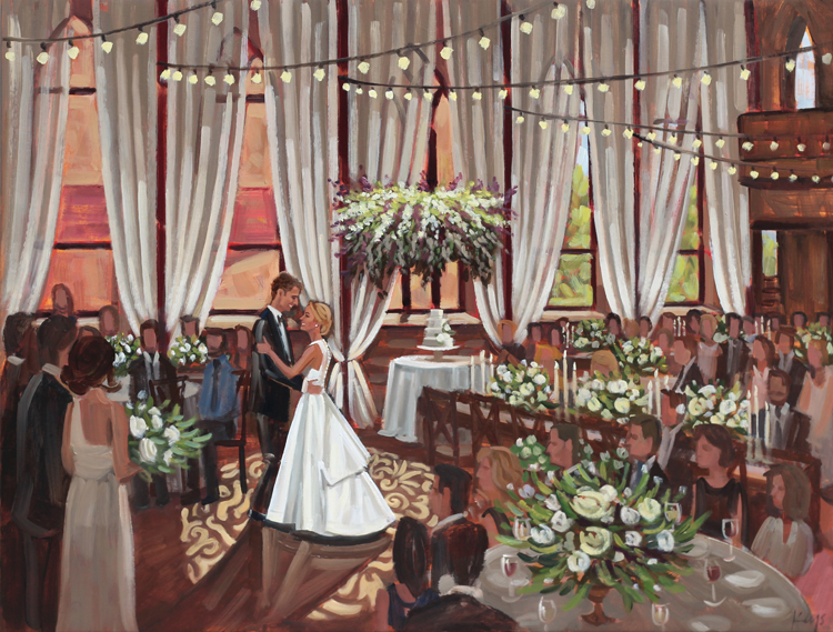 Live Wedding Painting | Brooklyn Arts Center, Wilmington, NC
