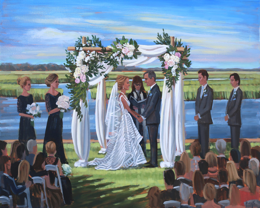 live-wedding-painter-wilmington-figure-8-island-yacht-club