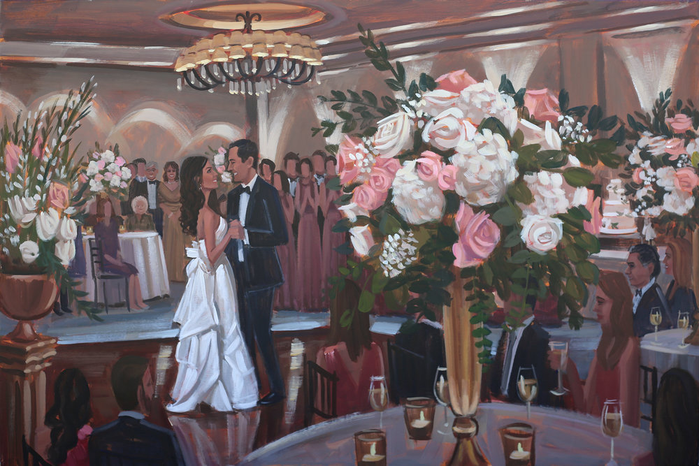 Live Wedding Painting | Westin Savannah Harbor, Savannah, GA