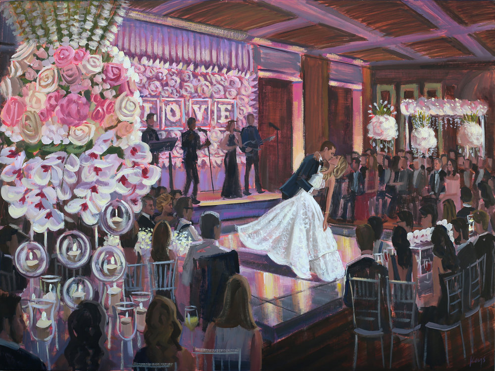 Temple Beth Am, Miami, FL | Live Wedding Painting