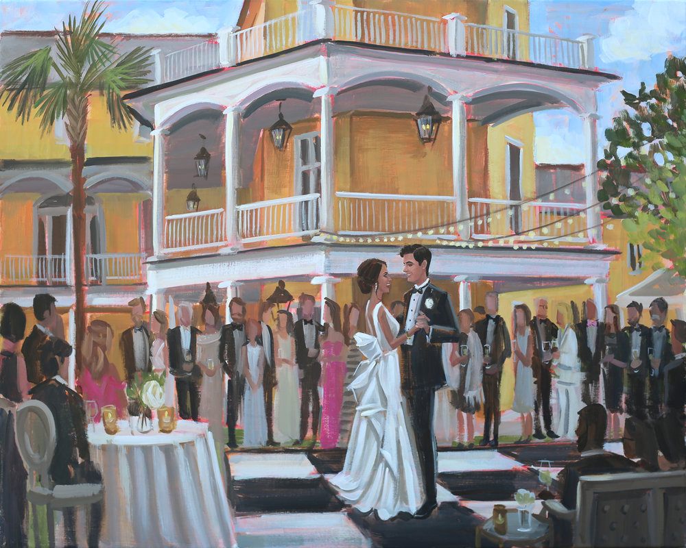 William Aiken House, Charleston, SC | Live Wedding Painting