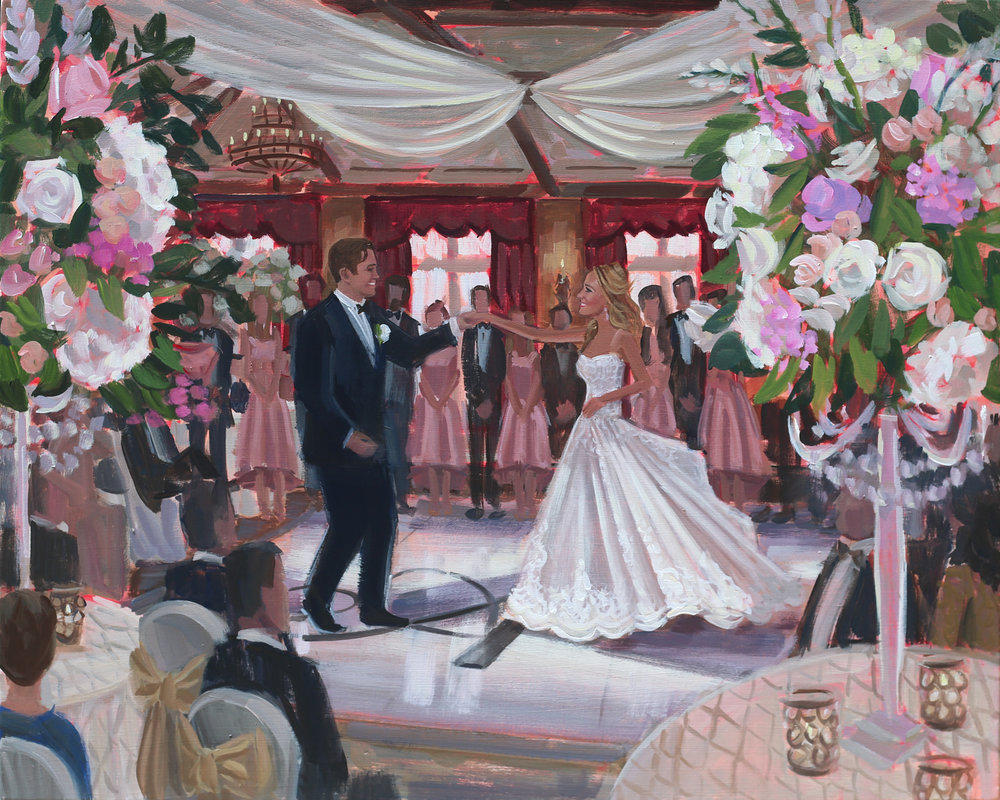 Live Wedding Painting | TPC Sawgrass, Ponte Vedra, FL