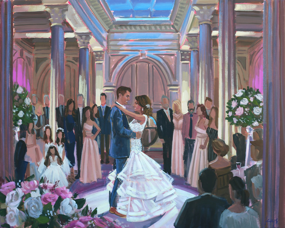 live-wedding-painter-st-augustine-the-treasury-on-the-plaza