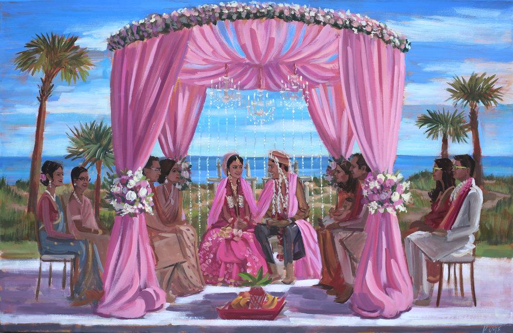 live-wedding-painting-amelia-island-ritz-carlton-fl