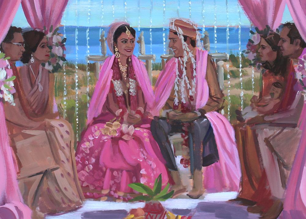 live-wedding-painter-florida-amelia-island-wedding