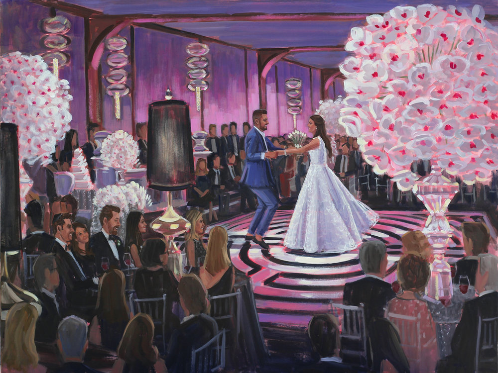 Live Wedding Painting | Pier Sixty, New York, NY