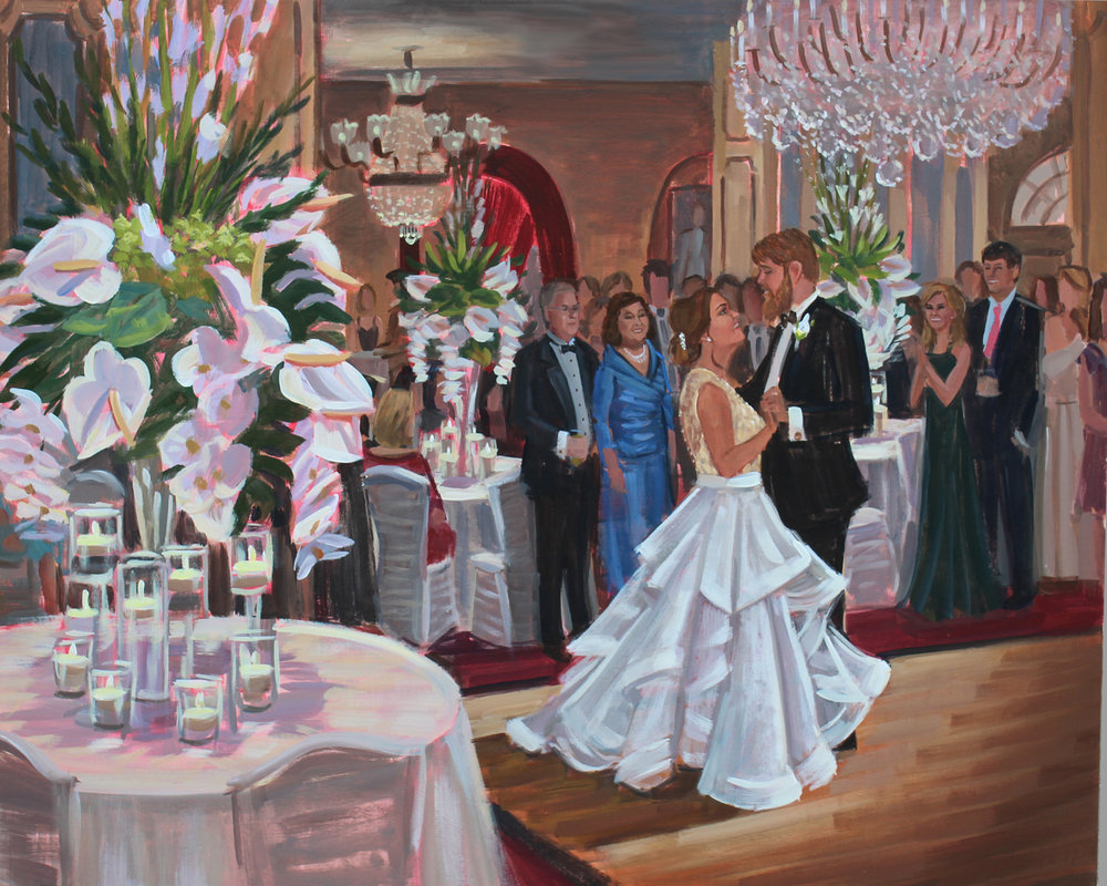 Live Wedding Painting | Omni Royal Orleans, New Orleans, LA