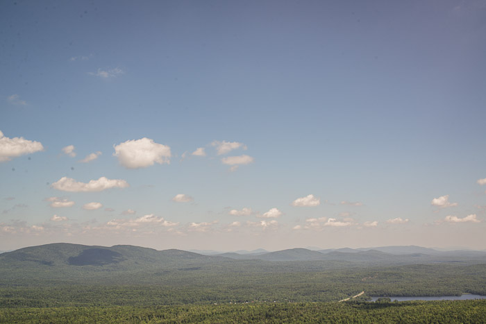 View from the (near) top of Mt. Arab fire tower.  --I'm afraid of heights.