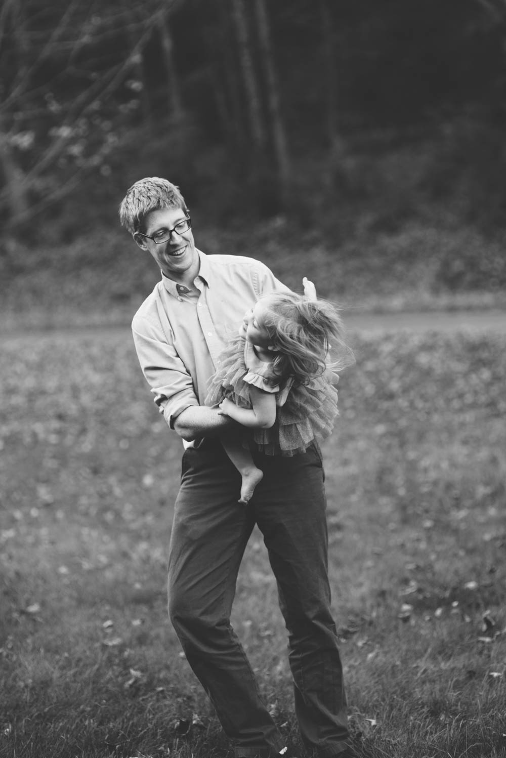 father and daughter candid portrait