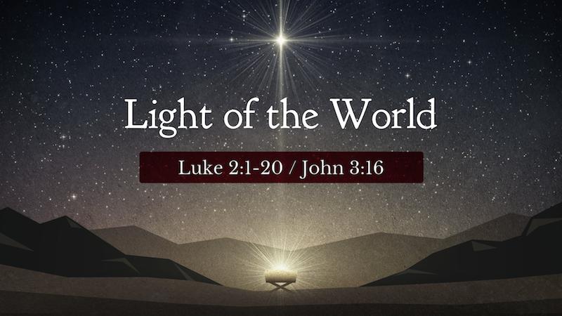 Christmas 2016 Luke 220 John 316