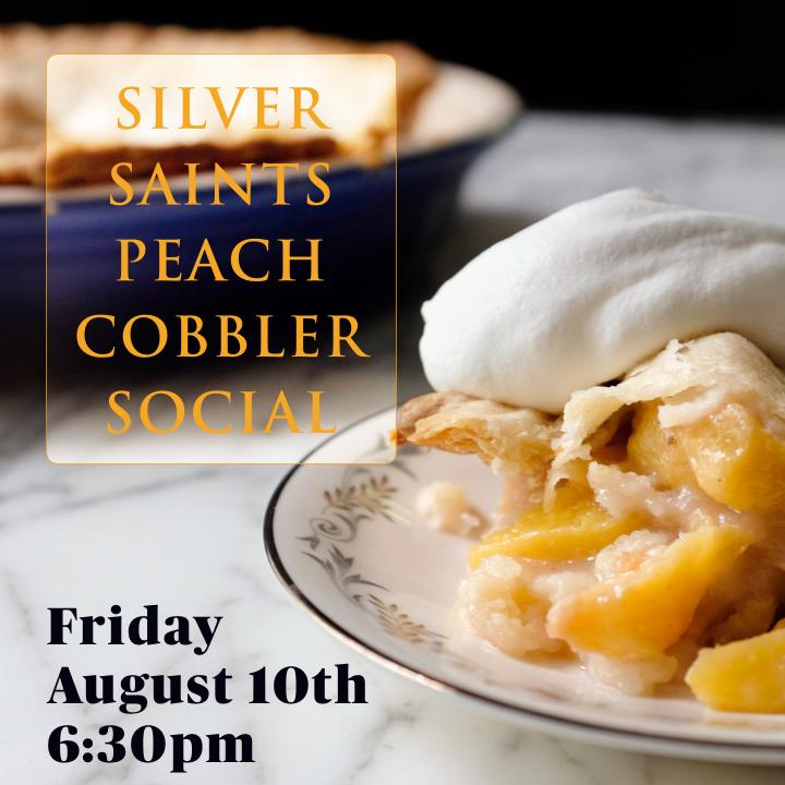 Silver Saints Peach Cobbler Social.png