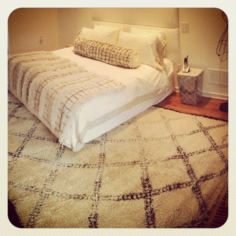 beni ourain rug, moroccan wedding blanket (handira), handira bolster pillow