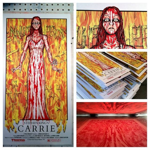 4 Color Carrie Poster