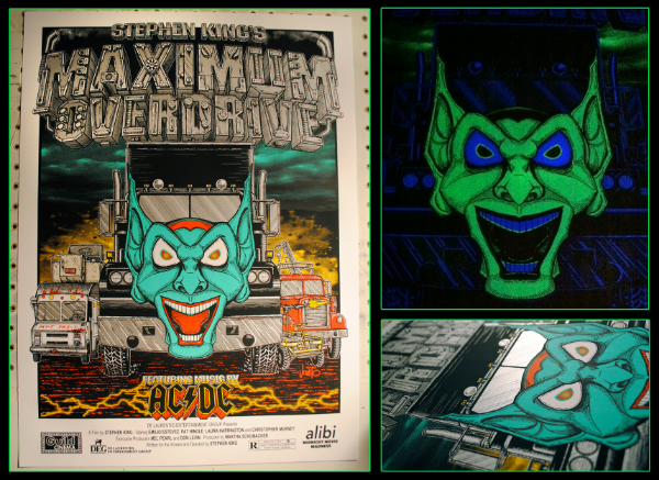 "5 Color ""Glow in the Dark"" Maximum Overdrive Poster"