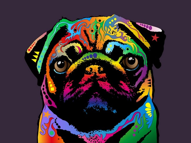 ashton-raquel: I need this. Love Pug Art!