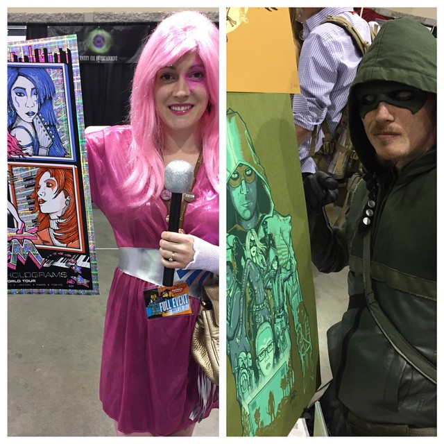 Great cosplay… Poster fans!! 😃😃😃 #jemandtheholograms #arrow #phoenixcomicon #jonito14