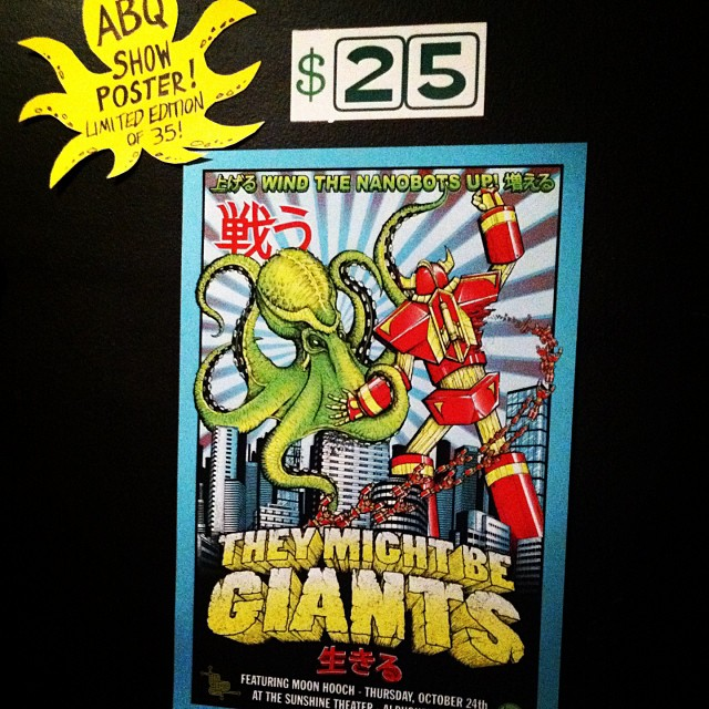 Dropped off my posters… Looking forward to tonight's show!!! #TheyMightBeGiants (at Sunshine Theater)