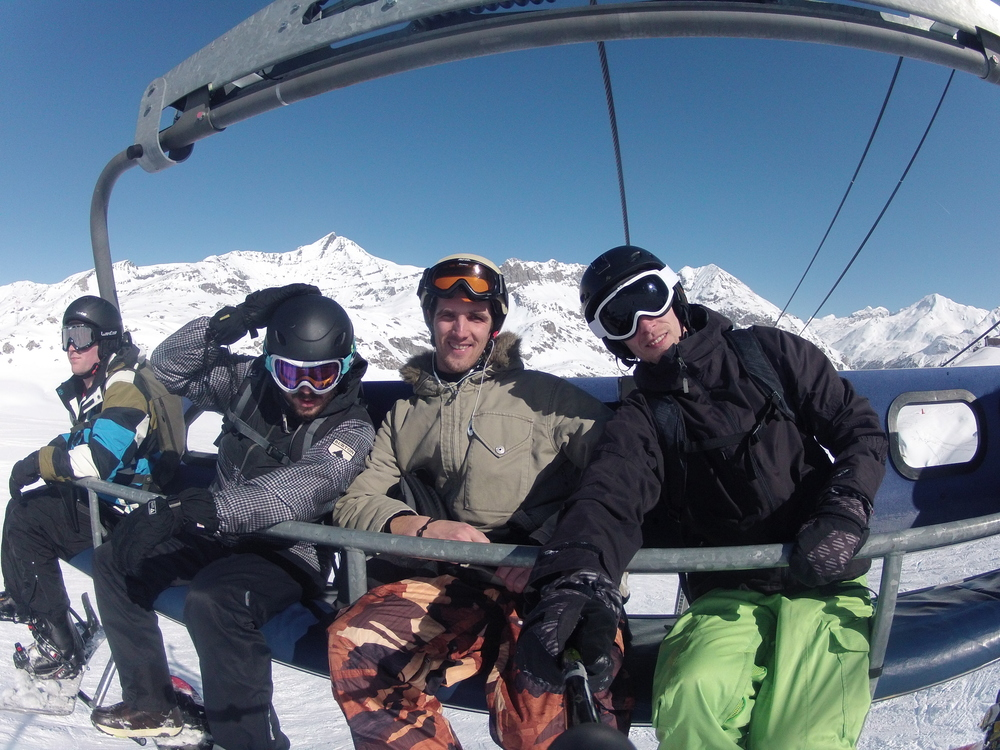 From left to right; Sjors, me, Robbert and Maarten. Shot with a GoPro Hero2.