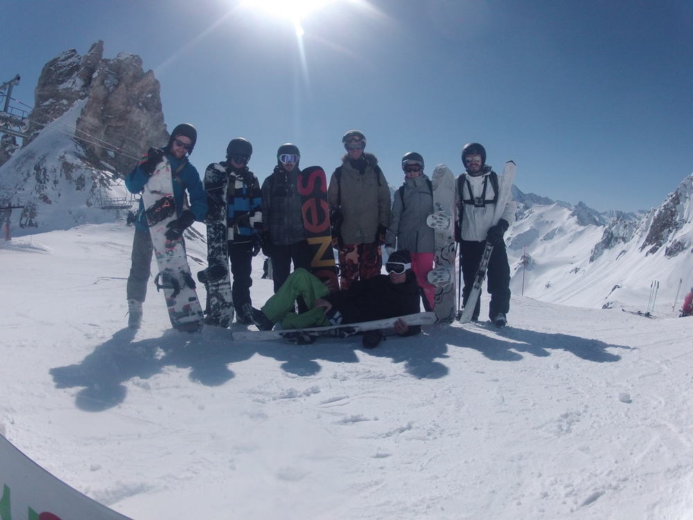 The whole group at 2300m.