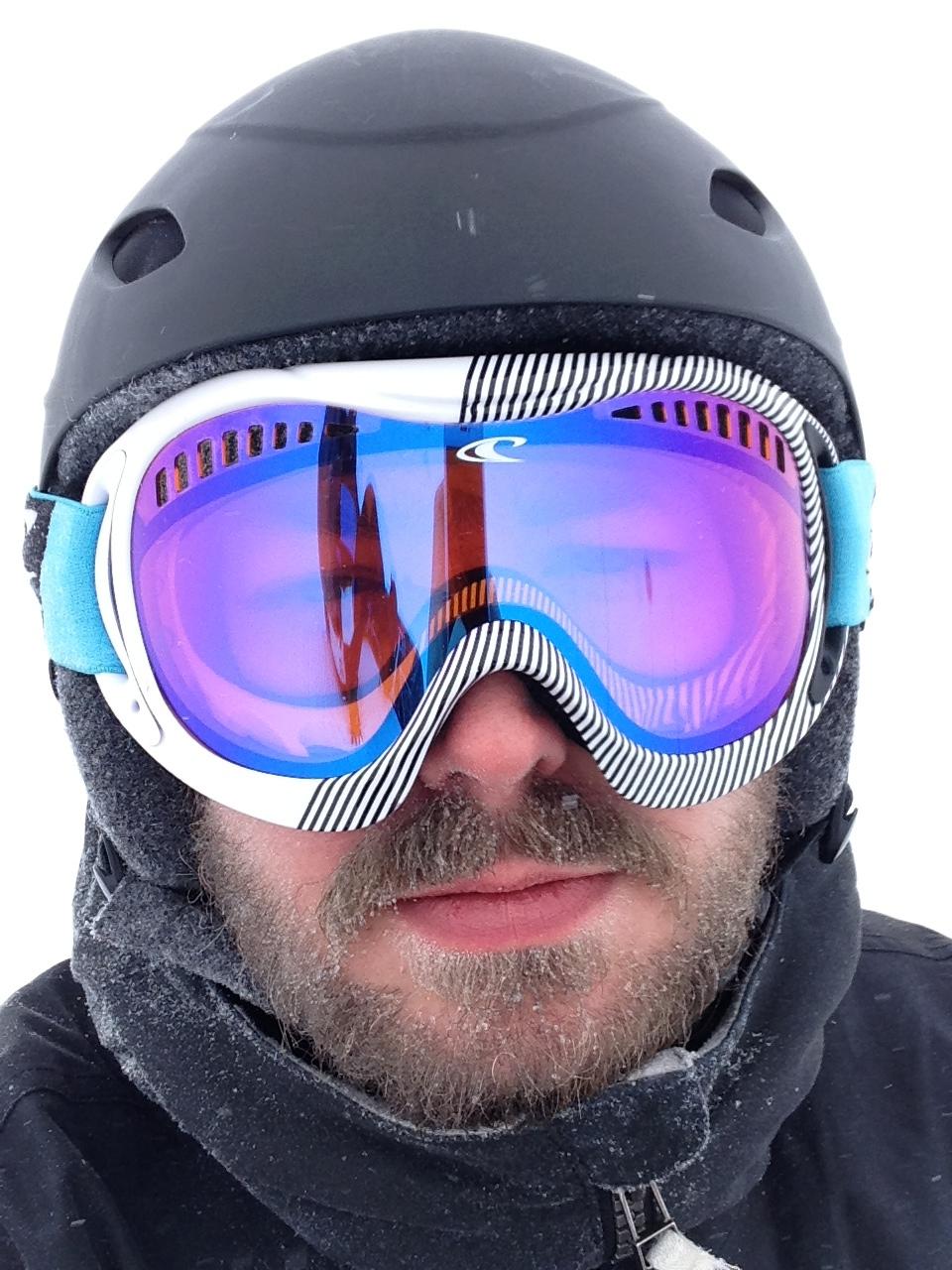 Frozen beard in snowy, -13° C conditions.