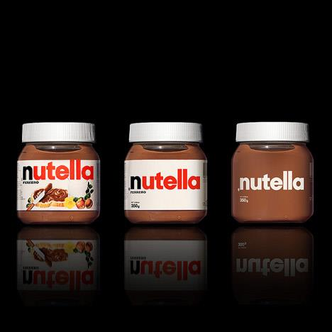 Simplified pots of Nutella. Found on  Dezeen .