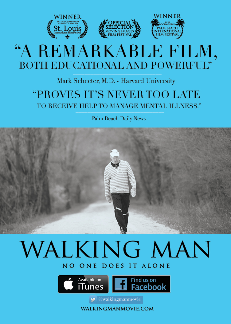 DVD/Bluray - Contact us here to receive a Walking Man DVD or Bluray ($15 suggested donation to cover expenses).The movie is also available for rent or purchase on iTunes and Amazon Prime Video.