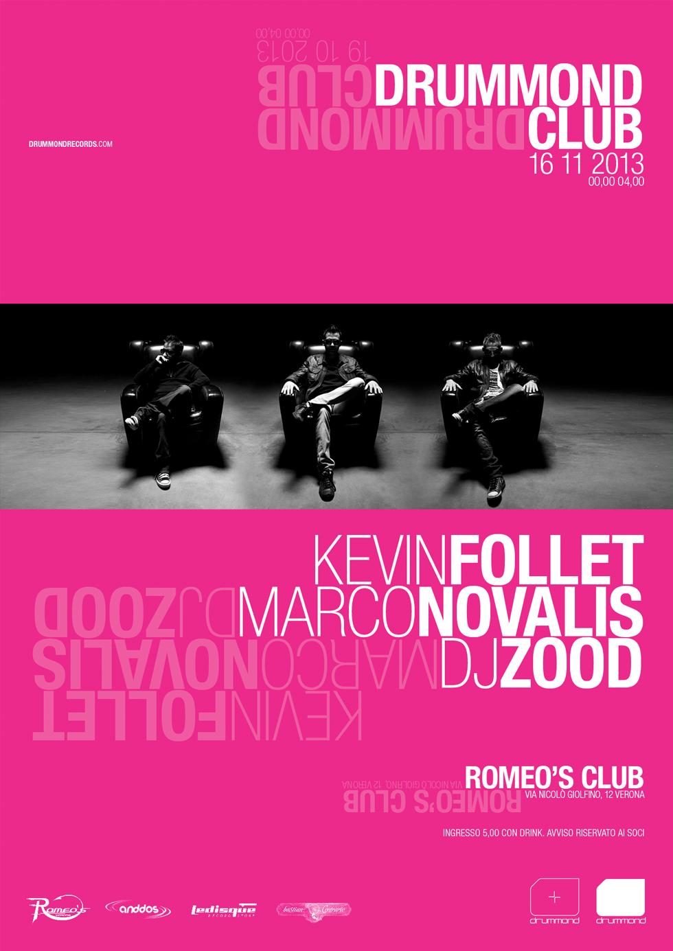 Drummond Club 2, Poster. Designer Cristiano Garonzi