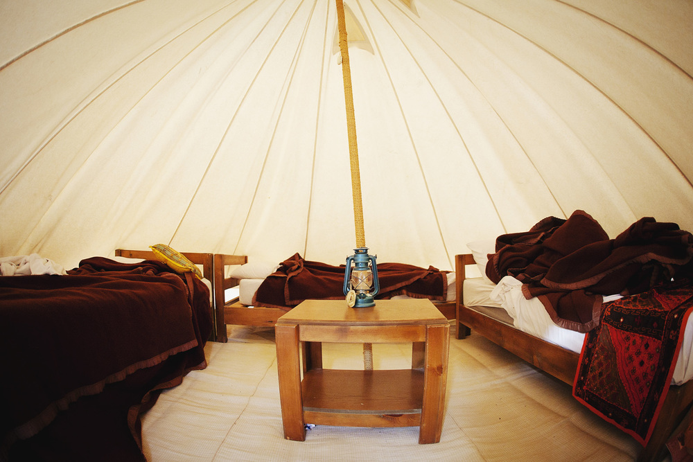 Our simple but gorgeous tent at Little Petra.