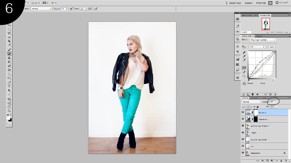 photoshop curves fashion blog