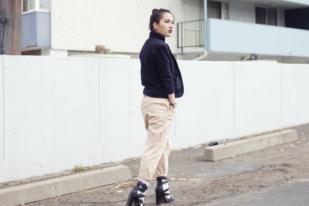 Helmut Lang skinny slouchy pants