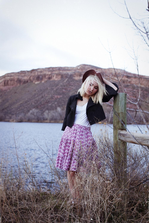 Jewellery from Rocksbox | Scanlan Theodore jacket | Bassike tee | Vintage skirt | Target hat