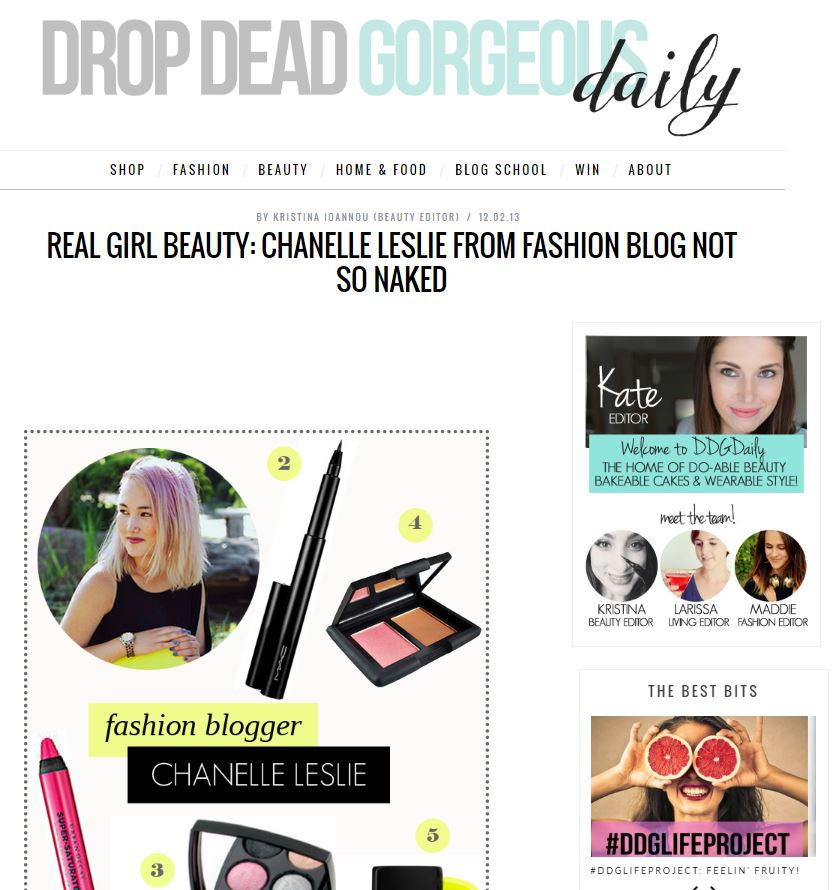 Featured in Drop Dead Gorgeous Daily, 2013
