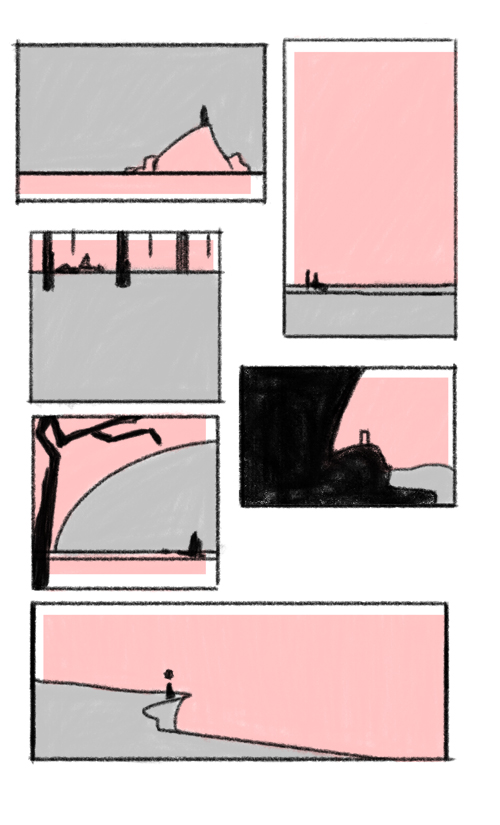 layout compositions. done using my macbook's trackpad.     i'm never good with compositions. OTL