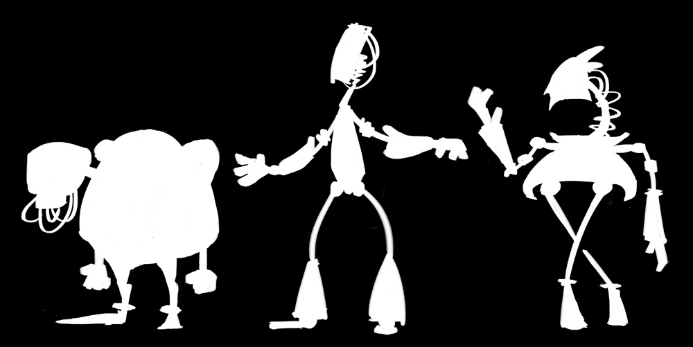 having fun with silhouettes.