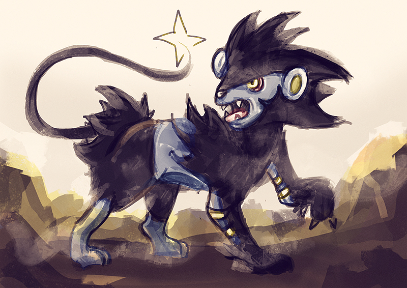quick sketch. i love my luxray. lol. i've been watching too much pokemon again. (best wishes)