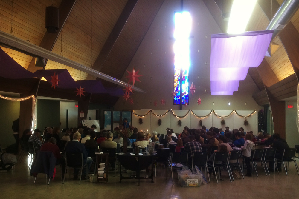 Service celebrating the beginning of advent