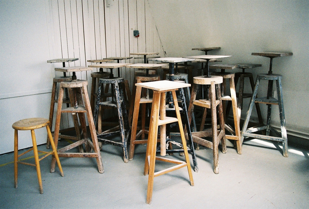 Chairs. Art school