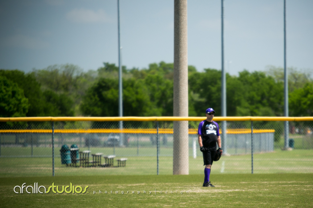 Jarrod looking a little bored in the outfield.