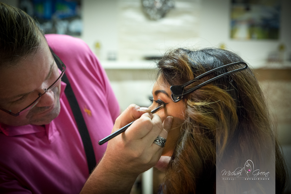 Makeup artist extraordinaire, Michael Greene, really pays attention to the details and made Melissa's eyes jump off the page. Michael if one of the best in the industry and we're so honored to have him as part of our team.