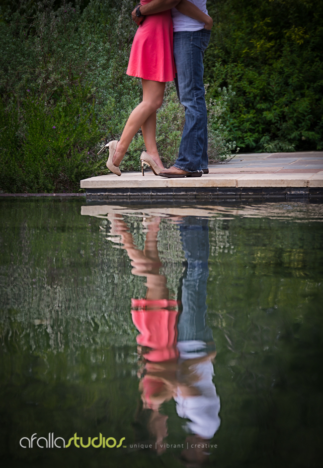 I was captured by the shoes Moriah wore, especially the gold tones in the heels. Great photo using reflection from the pond.