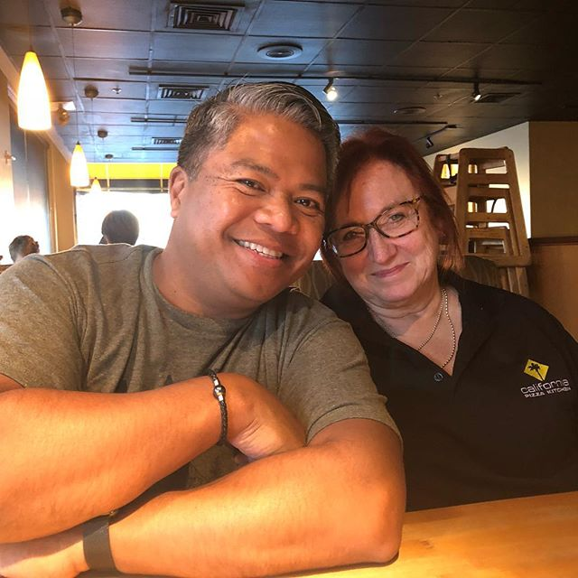 My friend and dog/house sitter, @tmsmith650. She's the best @californiapizzakitchen server EVER!!!