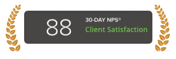 Average NPS for B2B Service Providers is 66.4 (Source: npsbenchmarks.com)