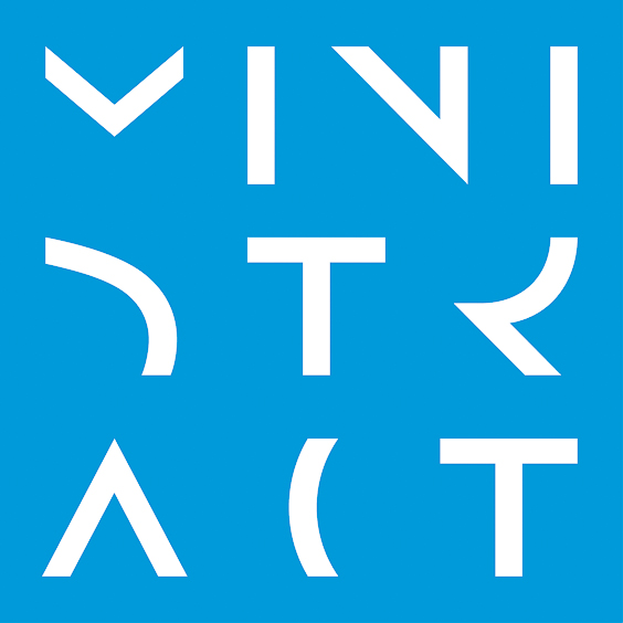 ministract logo on blue