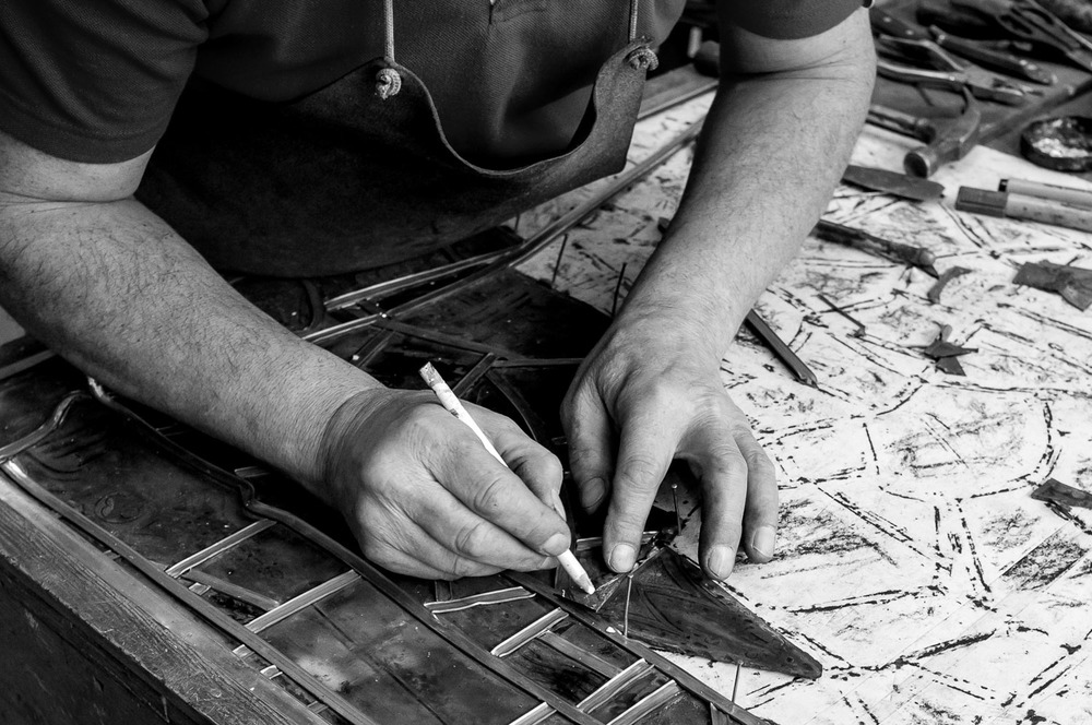 Nick Easthope,   stained glass specialist,   Folkestone (click image for lightbox view /   see more from this visit )