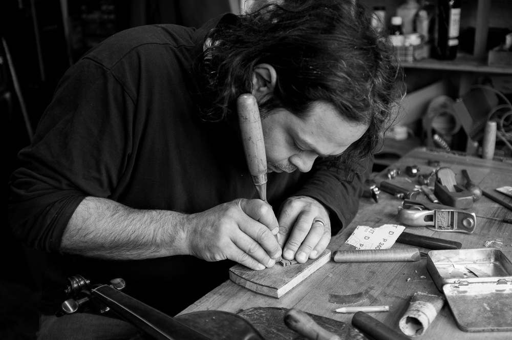 Dante Zufolo, violin restorer (click image for lightbox view / see more from this visit)